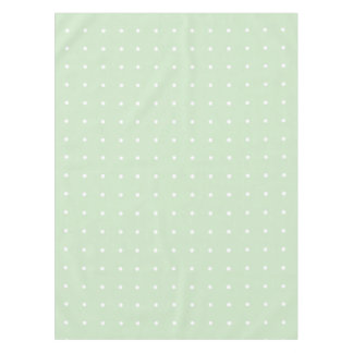 Mint Green With White Polka Dots Tablecloth