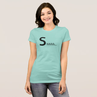 Mint Green Womens Shhhhh Tee