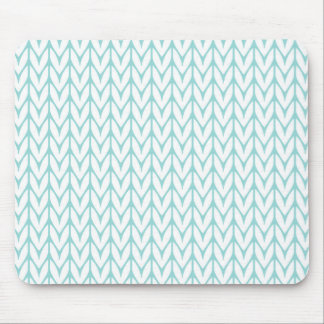 Mint Green Yarn Chevrons Knit Style Mouse Pad