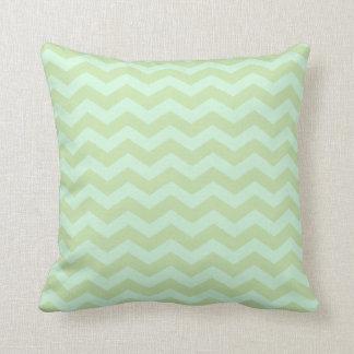 Mint Green Zig Zag Pattern Cushion