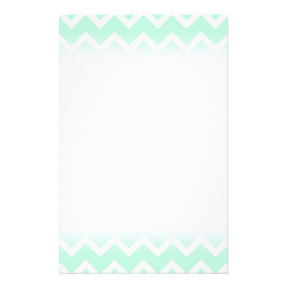 Mint Green Zigzag Chevron Stripes. 14 Cm X 21.5 Cm Flyer