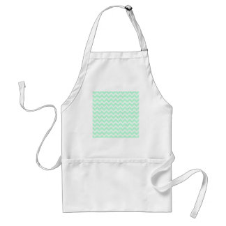 Mint Green Zigzag Chevron Stripes. Standard Apron
