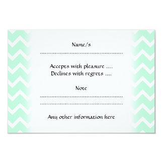 Mint Green Zigzag Chevron Stripes. Card