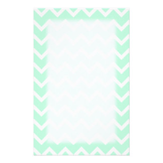 Mint Green Zigzag Chevron Stripes. Personalized Stationery