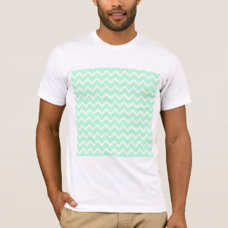 Mint Green Zigzag Chevron Stripes. T-Shirt