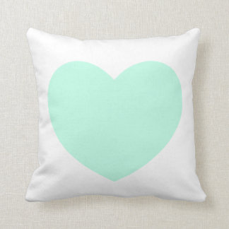 Mint Heart Pillow