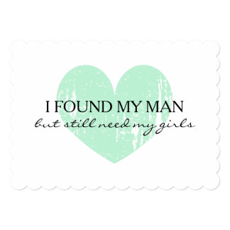 Mint heart Will you be my bridesmaid request cards 13 Cm X 18 Cm Invitation Card