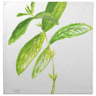 Mint herb Mint watercolour Mint print Napkin
