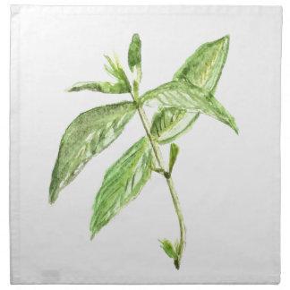 Mint herb napkin