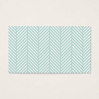 Mint Herringbone Business Card Template