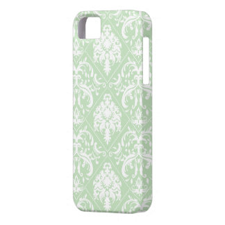 Mint Ice Cream Green and white vintage damask Case For The iPhone 5