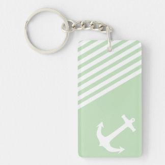 Mint Ice Cream Green Nautical Acrylic Keychain