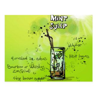 Mint Julep - Cocktail Gift Postcard