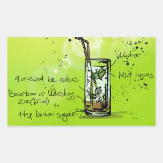 Mint Julep - Cocktail Gift Rectangular Sticker