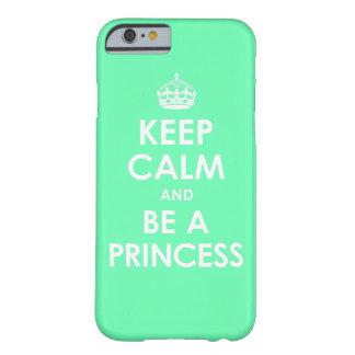 Mint Keep Calm & Be a Princess iPhone 6 case
