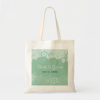 Mint Lace Tote - Customise Tote Bags