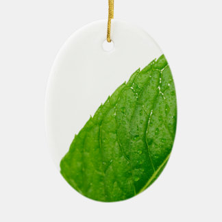 Mint Leaf Ceramic Ornament