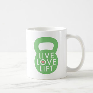 "Mint ""Live Love Lift"" Basic White Mug"