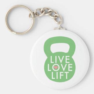 "Mint ""Live Love Lift"" Keychain"