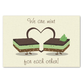 Mint Love Nanaimo Bars | Tissue Paper