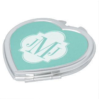 Mint Mint Green Solid Color Makeup Mirror