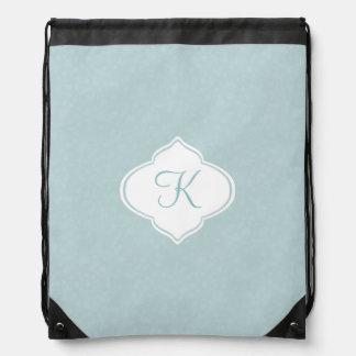 Mint Monogram Drawstring Bag
