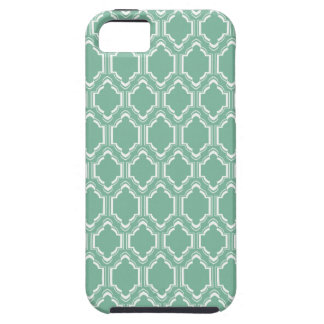 Mint Moroccan Pattern Tough iPhone 5 Case