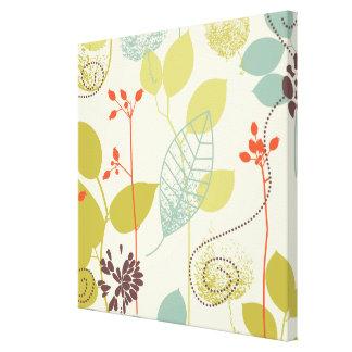 Mint n Olive Leaf Print on Canvas Wall Art Canvas Prints