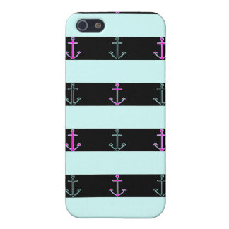 Mint Nautical Pattern Case For The iPhone 5