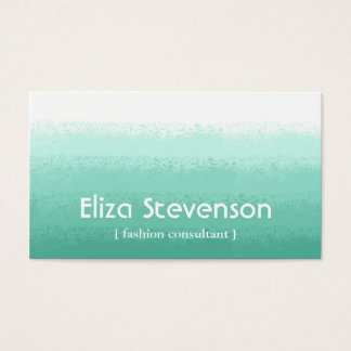 Mint Ombre Fashion Consultant Business Card