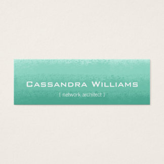 Mint Ombre Micro Mini Business Cards