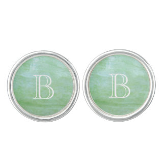 Mint or jade green garden squash photo cuff links