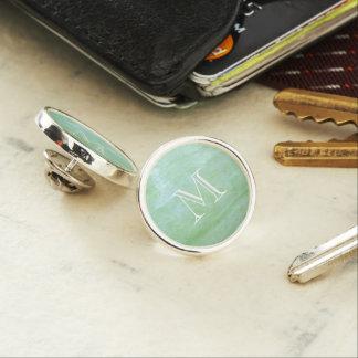 Mint or jade green garden squash photo lapel pin