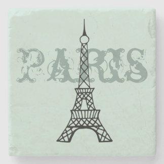 Mint Paris Eiffel Tower Stone Drink Coaster Gift Stone Beverage Coaster