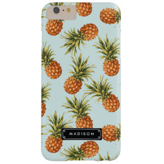Mint Pineapple Personalized Barely There iPhone 6 Plus Case