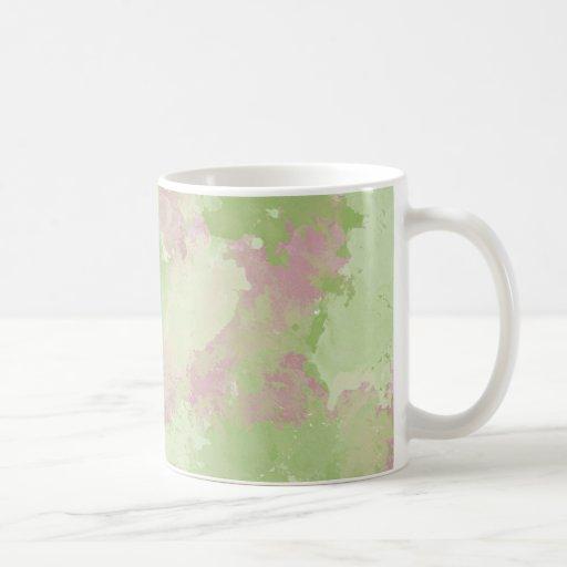 Mint Pink Abstract Watercolor Mugs