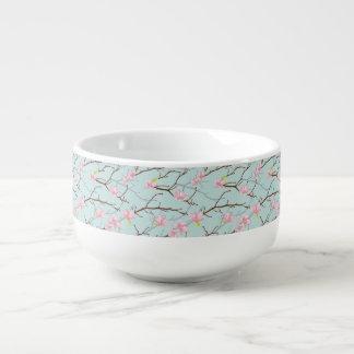 mint,pink,cherry blossom, girly,trendy,beautiful,t soup mug