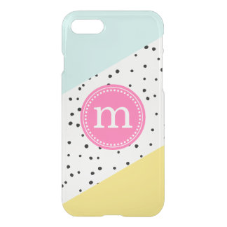 Mint, Pink & Yellow Summer Personalised Monogram iPhone 8/7 Case