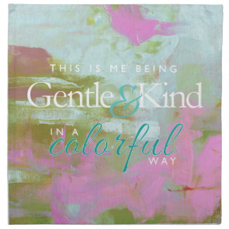 Mint pint colorful oil abstract gentle kind napkin