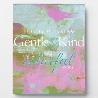 Mint pint colorful oil abstract gentle kind photo plaques