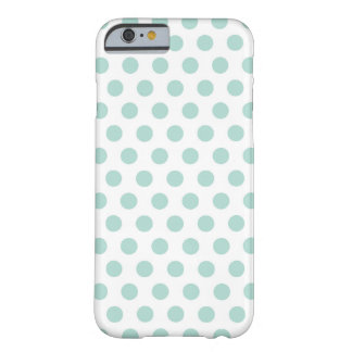 Mint Polka Dot Barely There iPhone 6 Case