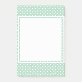 Mint Polka Dot Post-It Notes