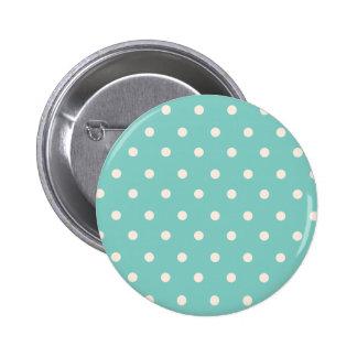 Mint Polkadots 6 Cm Round Badge