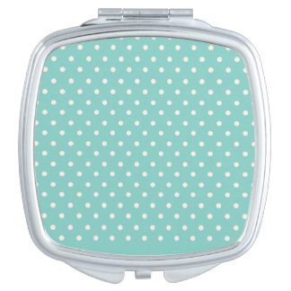 Mint Polkadots Mirror For Makeup