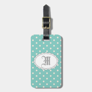 Mint Polkadots Tags For Luggage