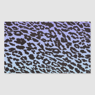 mint & purple fade leopard rectangular sticker