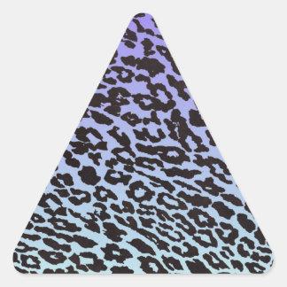 mint & purple fade leopard stickers