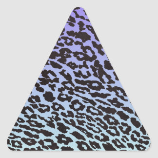 mint & purple fade leopard triangle sticker
