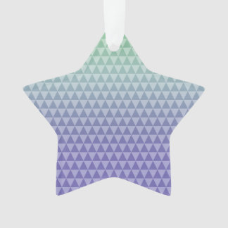 Mint Purple Triangles Ornament