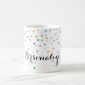 Mint Rainbow Confetti Dots Coffee Mug